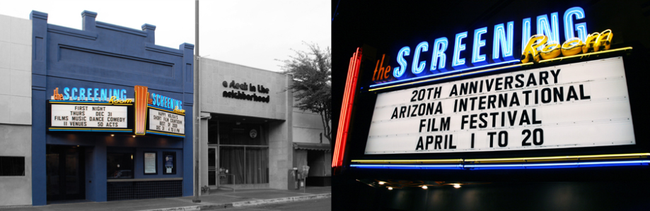 Theater and Restaurant sign